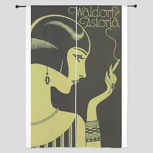 Waldorf Astoria, Flapper, Vintage Poster Curtains