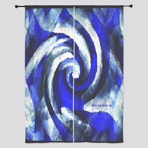 "Mod Blue Swirl 84"" Curtains"