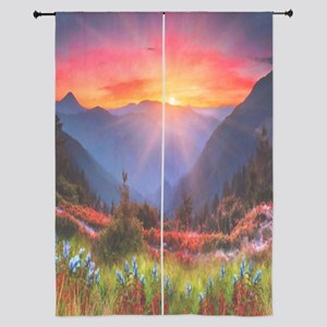 """High Country Sunset 84"""" Curtains"""