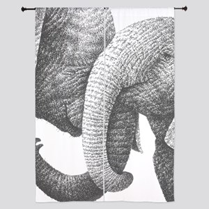 """Young African Elephants 84"""" Curtains"""