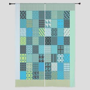 "Patchwork Quilt Design 84"" Curtains"