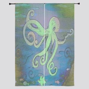 Blue Octopus Curtains