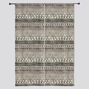 """African Pattern 84"""" Curtains"""