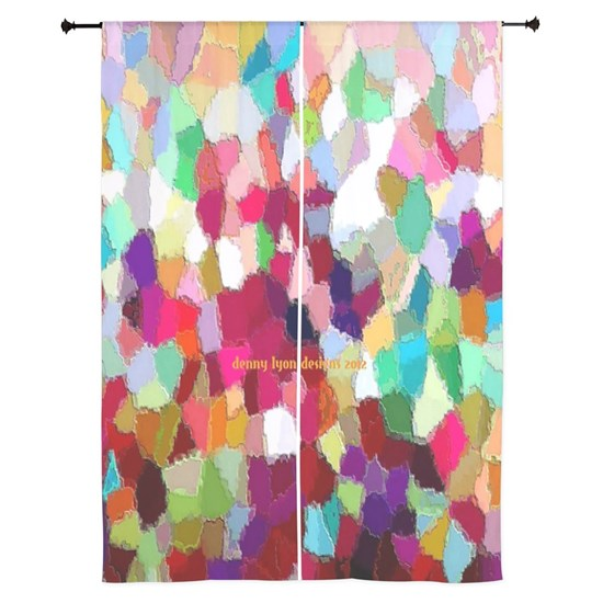84-inch Curtains Rainbow Colors