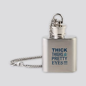 THICK THIGHS and PRETTY EYES! Flask Necklace