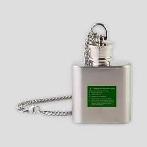 What to do on St. Patricks Day Flask Necklace