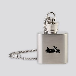 Motorcycle Shadow Flask Necklace