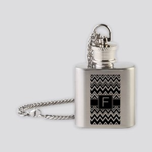 444_pattern_monogram_zigzag_F Flask Necklace