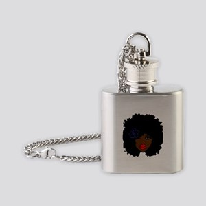 BrownSkin Curly Afro Natural Hair?? Flask Necklace