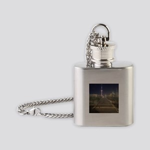One more step Flask Necklace
