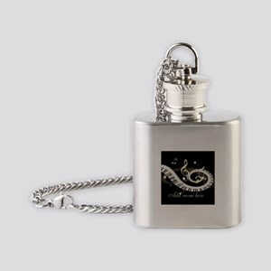 Personalized Piano Musical gi Flask Necklace