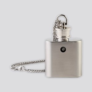 Keep Calm and Play Pool Flask Necklace