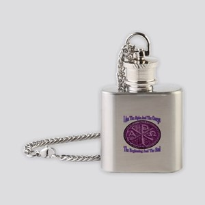 Chi Rho Alpha Omega Flask Necklace
