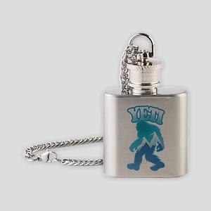 Yeti Mountain Scene Flask Necklace