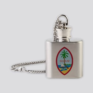 Guam  Coat of Arms Flask Necklace