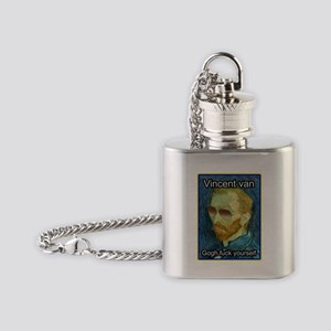 Vincent van Gogh fuck yourself Flask Necklace