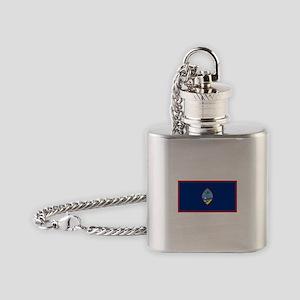 Guam Flag Flask Necklace