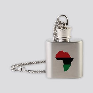 Red, Black and Green Africa Flag Flask Necklace