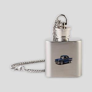 BabyAmericanMuscleCar_57BelR_Blue Flask Necklace