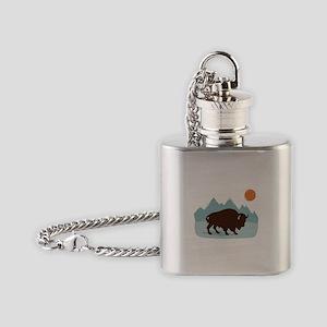 Buffalo Mountains Flask Necklace