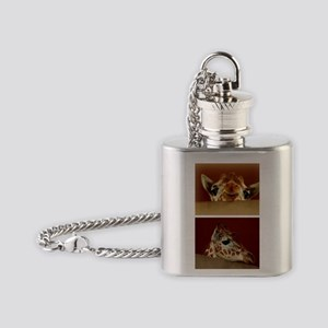 Giraffe Collage Flask Necklace