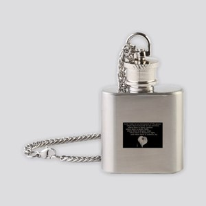 Prayer of St. Francis with Calla Lily Flask Neckla