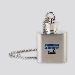 Swimming Addict Flask Necklace