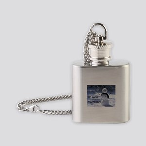 Snowman GFY Flask Necklace