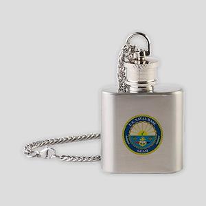 U.S. Navy Base Guam Flask Necklace