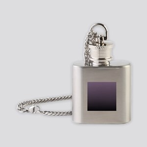 black purple ombre Flask Necklace