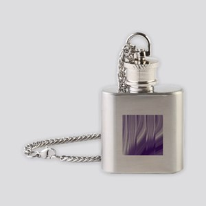 abstract purple grey Flask Necklace