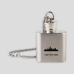 Dallas Cityscape Skyline (Custom) Flask Necklace