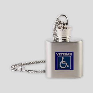 Disabled Handicapped Veteran Flask Necklace