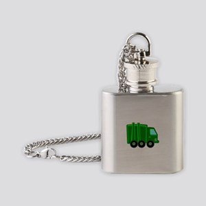 Garbage Truck Flask Necklace