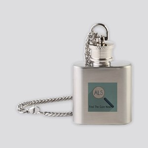 ALS Awareness Month Flask Necklace