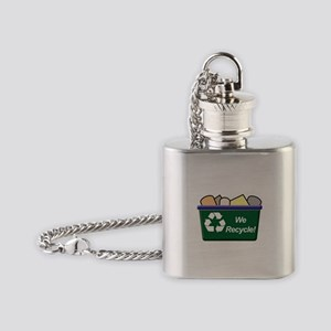 We Recycle Flask Necklace
