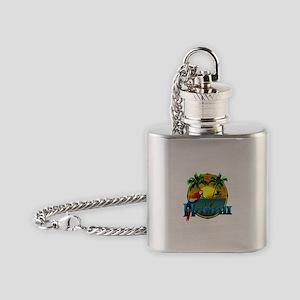 Hawaiian Sunset Flask Necklace