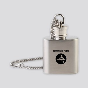 Custom Rowing Flask Necklace