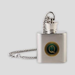 Irish Luck Q Flask Necklace