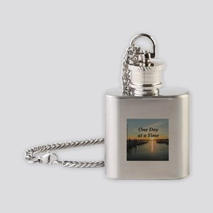 ONE DAY AT A TIME Flask Necklace