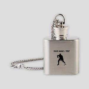 Custom Hockey Player Silhouette Flask Necklace
