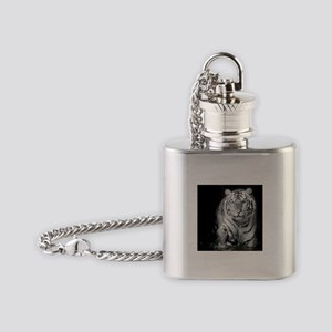 White Tiger Flask Necklace