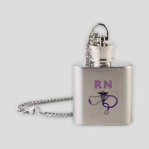 RN Nurse Medical Flask Necklace