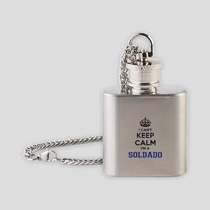 I can't keep calm Im SOLDADO Flask Necklace