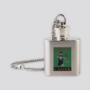 Schnauzer Lager Flask Necklace