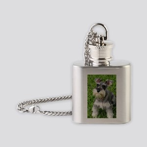 Schnauzer Flask Necklace
