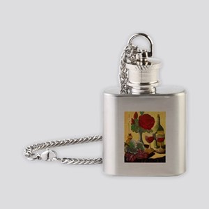 Wine & Roses Flask Necklace