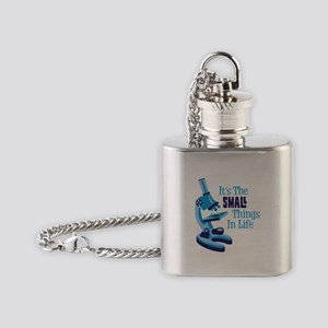 Its The SMALL Things In Life Flask Necklace