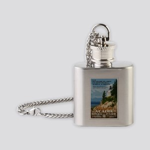 Acadia National Park Flask Necklace