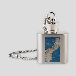 GUAM MAP Flask Necklace